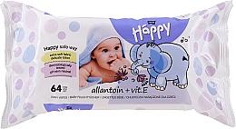 Fragrances, Perfumes, Cosmetics Wet Wipes with Vitamin E, 64 pcs - Bella Baby Happy Vit E & Allantoin