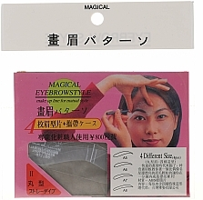 Fragrances, Perfumes, Cosmetics Eyebrow Stencil Shaper, size A5, A6, A7, A8 - Magical Eyebrow Style