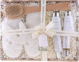 Fragrances, Perfumes, Cosmetics Set - Baylis & Harding Urban Barn Lime, Basil & Mint Set (h/cr/50ml + sh/cr/100ml + b/cr/50ml + sh/gel/50ml + back/brush/1 + slippers)