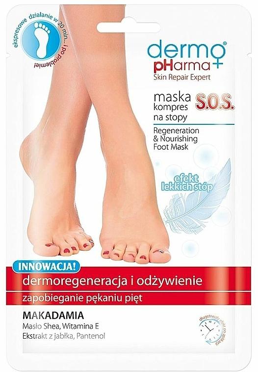 Regenerating Foot Compress-Mask - Dermo Pharma Skin Repair Expert S.O.S. Regenerating Foot Mask