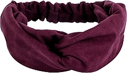 "Fragrances, Perfumes, Cosmetics Headband, Eco Suede Cross, burgundy ""Suede Twist"" - MakeUp Hair Accessories"