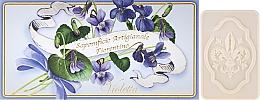 "Fragrances, Perfumes, Cosmetics Toilet Soap Set ""Violet"" - Saponificio Artigianale Fiorentino Violet"