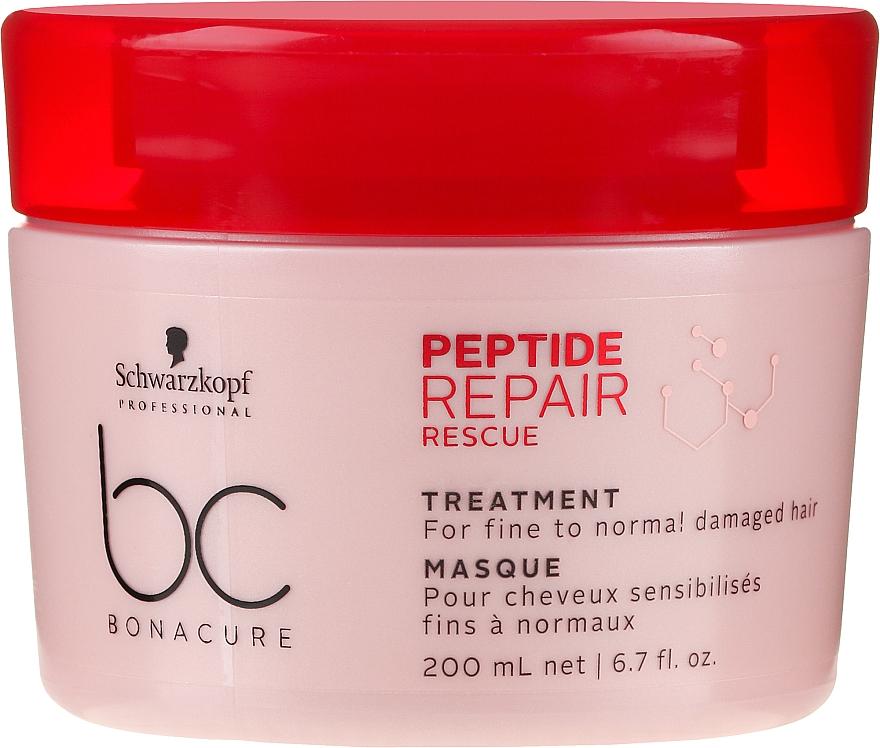 Repair Mask for Thin & Normal Damaged Hair - Schwarzkopf Professional BC Bonacure Peptide Repair Rescue Treatment Mask