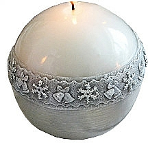 Fragrances, Perfumes, Cosmetics Decorative Candle, ball, white, 10 cm - Artman Christmas Time