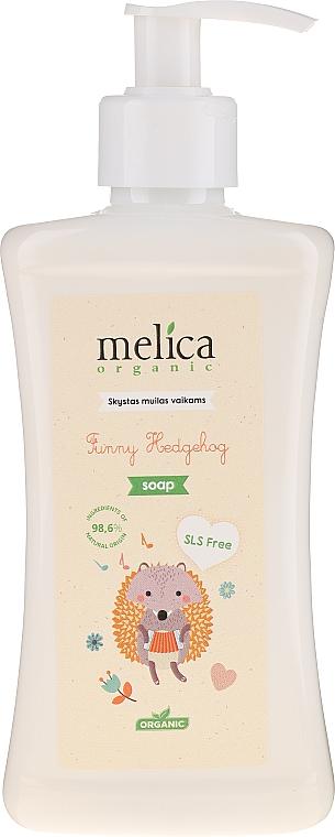 """Liquid Kids Soap """"Hedgehog"""" - Melica Organic Funny Hedgehog Liquid Soap"""