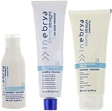 Fragrances, Perfumes, Cosmetics Chemical Hair Straightening Set - Inebrya Bionic Straight Ammonia Free 3 Steps Kit (cr/150ml + lotion/100ml + cr/200ml)