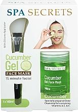 Fragrances, Perfumes, Cosmetics Set - Spa Secrets Cucumber Gel Face Mask (mask/140ml + brush/mask/1pcs)
