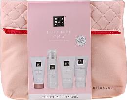 Fragrances, Perfumes, Cosmetics Set - The Ritual of Sakura Renewing Treat (b/cr/70ml + sh/g/50ml + shampoo/70ml + b/scrub/70ml + bag)