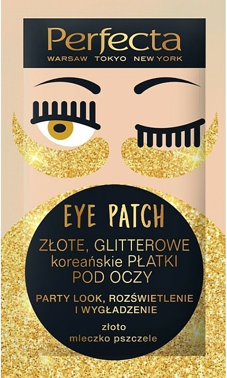 Eye Patch - Perfecta Gold Glitter Eye Patch