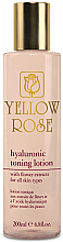 Fragrances, Perfumes, Cosmetics Toning Lotion with Hyaluronic Acid - Yellow Rose Hyaluronic Toning Lotion