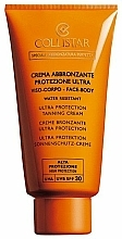 Fragrances, Perfumes, Cosmetics Tanning Cream - Collistar Ultra Protection Tanning Cream face and body SPF 30