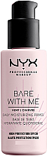 Fragrances, Perfumes, Cosmetics Moisturizing Face Primer SPF30 - NYX Professional Makeup Bare With Me Hemp Deily Moisturizing Primer