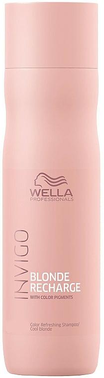 Anti-Yellow Shampoo - Wella Professionals Invigo Blonde Recharge Color Refreshing Shampoo