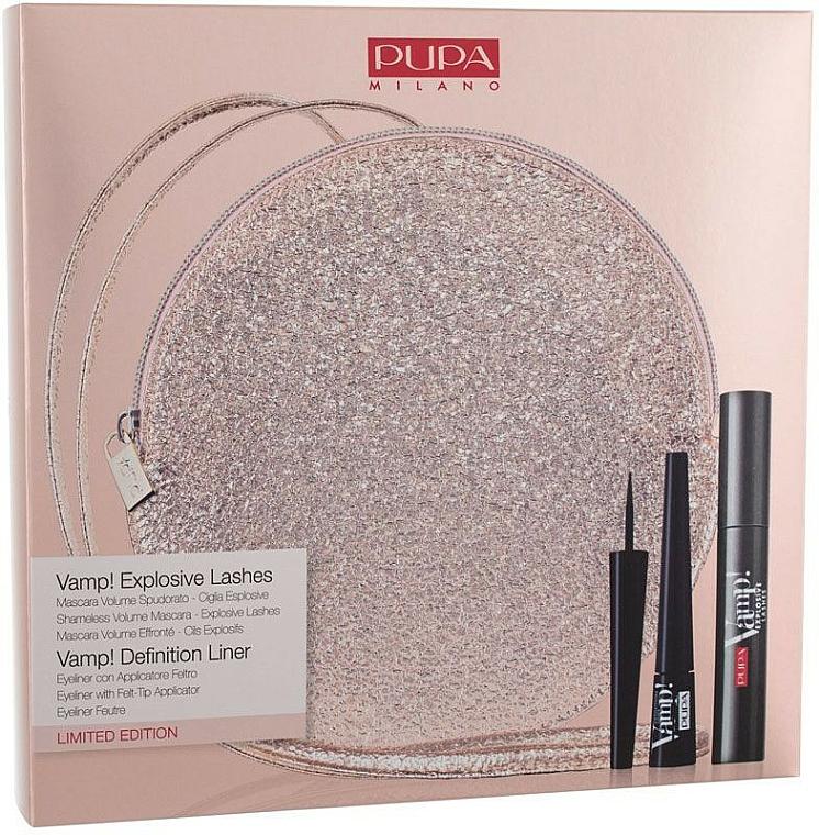 Set - Pupa Limited Edition (masscara/12ml + eyeliner/2.5ml + bag) — photo N1