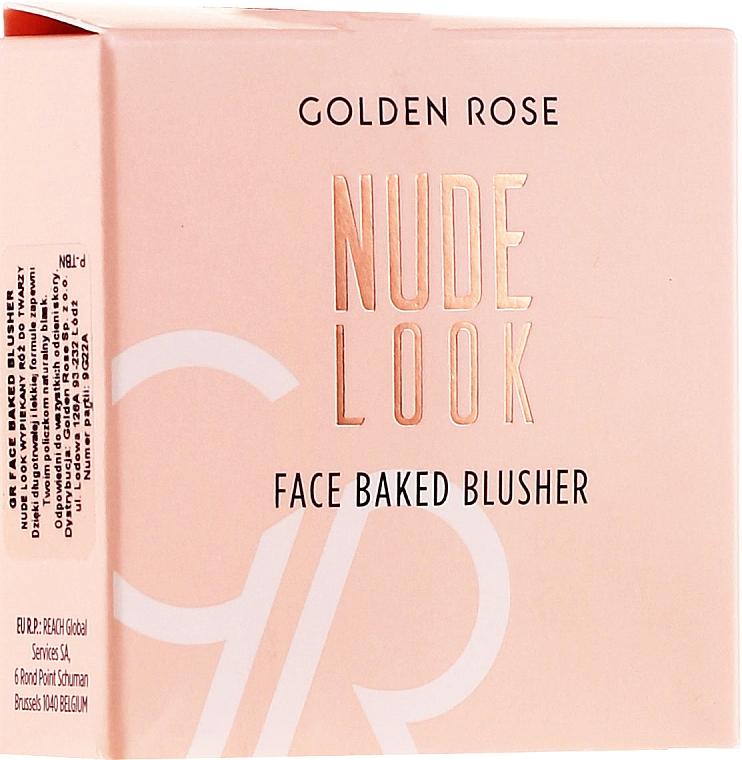 Face Blush - Golden Rose Nude Look Face Baked Blusher