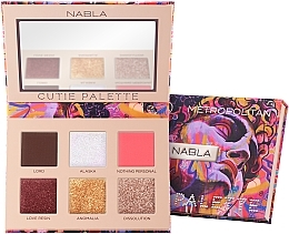 Fragrances, Perfumes, Cosmetics Eyeshadow Palette - Nabla Cutie Collection Palette Metropolitan