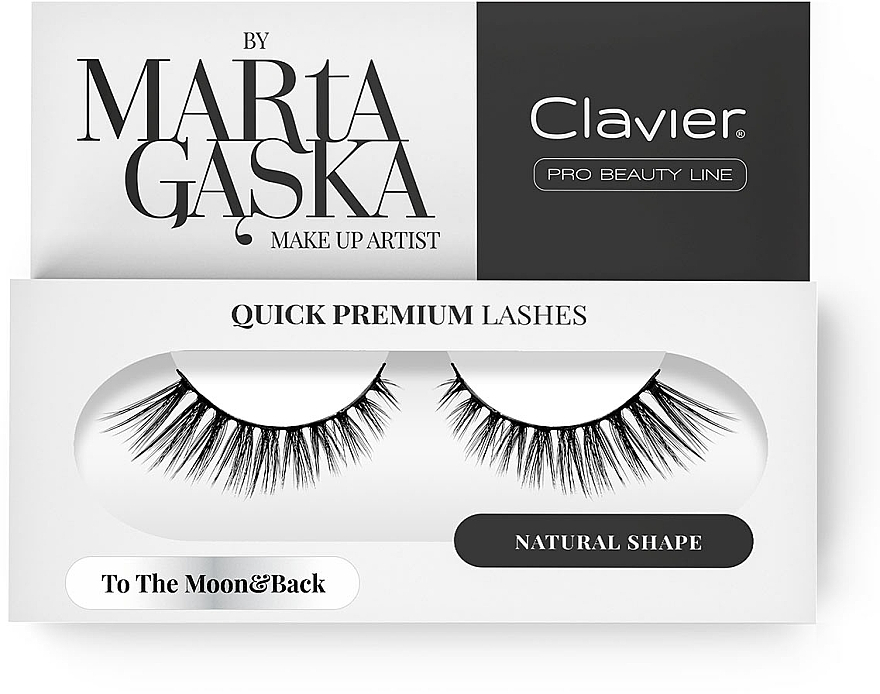 Flase Lashes - Clavier Quick Premium Lashes To The Moon&Back 801