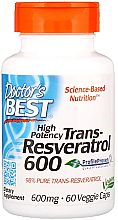 Fragrances, Perfumes, Cosmetics High Potency Trans-Resveratrol, 600mg, capsules - Doctor's Best