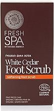 Fragrances, Perfumes, Cosmetics Foot Scrub - Natura Siberica Fresh Spa Russkaja Bania Detox White Cedar Foot Scrub