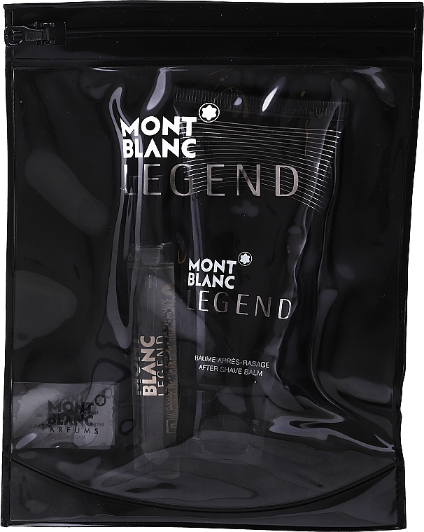 Montblanc Legend - Set (edt/7,5 ml + a/sh/b/50 ml + bag) — photo N1
