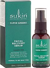 Fragrances, Perfumes, Cosmetics Regenerating Facial Serum - Sukin Super Greens Facial Recovery Serum