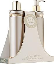 Fragrances, Perfumes, Cosmetics Set - Vivian Gray Brown Crystals Set (sh/gel/250ml + b/lot/250ml)