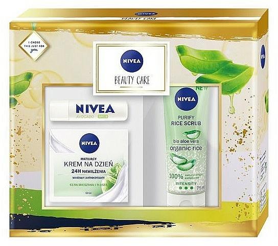 Set - Nivea Beauty Care (f/cr/50ml + f/scr/75ml + balm/4.8g)
