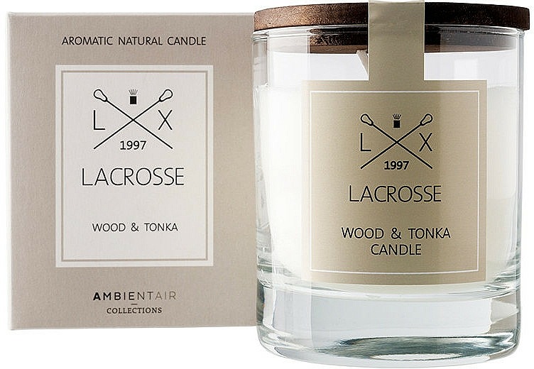 Scented Candle - Ambientair Lacrosse Wood & Tonka Candle — photo N1