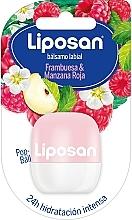 Fragrances, Perfumes, Cosmetics Raspberry & Red Apple Lip Balm - Liposan Pop Ball