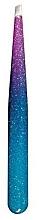 "Fragrances, Perfumes, Cosmetics Beveled Tweezers ""Epoxy Glitter"", 75995, crimson-blue - Top Choice"