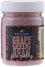Fragrances, Perfumes, Cosmetics Grape Seeds Bran Face Peeling - Hristina Cosmetics Grape Seeds Bran Face Peeling