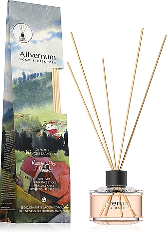 """Aroma Diffuser """"Paradise Apple from Podhale Region"""" with Sticks - Allverne Home & Essences Diffuser"""