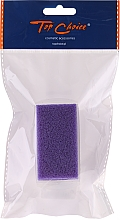 Square Hand Brush with Pumice, 71058, purple - Top Choice — photo N1