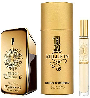 Paco Rabanne 1 Million Parfum - Set (parfum/50ml + deo/150ml+parfum/mini/10ml) — photo N2