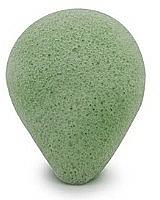 "Fragrances, Perfumes, Cosmetics Face Wash Sponge, drop ""Green Tea"" - Bebevisa Konjac Sponge"