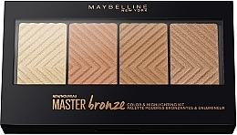 Fragrances, Perfumes, Cosmetics Contour Palette - Maybelline Master Bronze Color & Highlighting