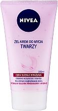 Fragrances, Perfumes, Cosmetics Washing Cream Gel for Dry and Sensitive Skin - Nivea Visage Cleansing Soft Cream Gel