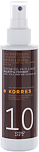 Fragrances, Perfumes, Cosmetics Tanning Oil - Korres Clear Sunscreen Body Face Walnut Coconut Oil SPF10