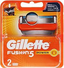 Fragrances, Perfumes, Cosmetics Shaving Razor Refills, 2 pcs. - Gillette Fusion Power