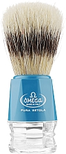 Fragrances, Perfumes, Cosmetics Shaving Brush, 10218, blue - Omega