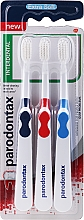 Fragrances, Perfumes, Cosmetics Toothbrush Set, extra soft, dark blue+red+blue - Parodontax Interdental Extra Soft