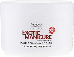 Fragrances, Perfumes, Cosmetics Sugar Hand Peel - Farmona Egzotic Manicure Scrub