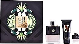 Fragrances, Perfumes, Cosmetics Carolina Herrera CH Men Prive - Set (edt/100ml + ash/balm/100ml + edt/mini/7ml)