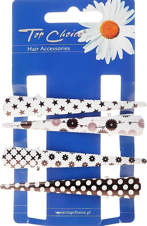 Hair Claws, 25099, black-white - Top Choice