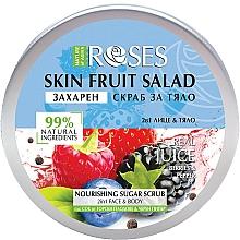 Fragrances, Perfumes, Cosmetics Berry & Black Pepper Face & Body Scrub - Nature of Agiva Roses Body Fruit Salad Nourishing Sugar Scrub