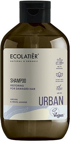"Repairing Shampoo for Damaged Hair ""Argan and White Jasmine"" - Ecolatier Urban Restoring Shampoo"