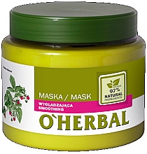 Fragrances, Perfumes, Cosmetics Smoothing Shine Hair Mask with Raspberry Extract - O'Herbal