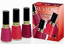 Fragrances, Perfumes, Cosmetics Set - Revlon Kit Trio Flirtatious Reds (nail/3pcs)