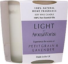 "Fragrances, Perfumes, Cosmetics Scented Candle ""Petitgrain & Lavender"" - AromaWorks Light Range Petitgrain & Lavender Candle"