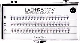 Fragrances, Perfumes, Cosmetics False Lashes - Lash Brown Premium Flare Silk Lashes Natural Short